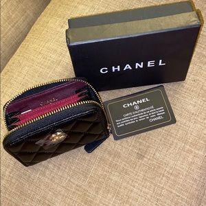 Chanel Zipper Card Holder